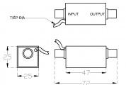Thiết bi cắt lọc sét trên đường tín hiệu camera CPR_LSP_BNC